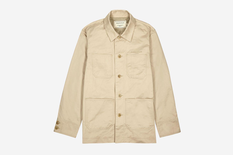 Ecru Cotton-Twill Jacket
