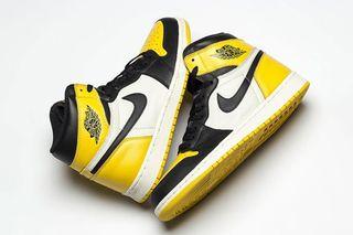 "10786a3c4d3b Jordan Brand Gives the Air Jordan 1 ""Black Toe"" a Yellow Remix"
