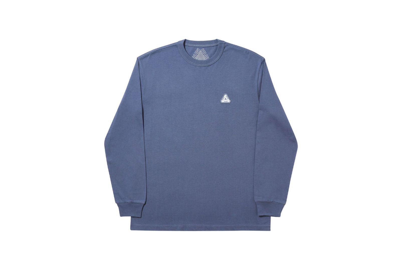 Palace 2019 Autumn Longsleeve T Shirt blue