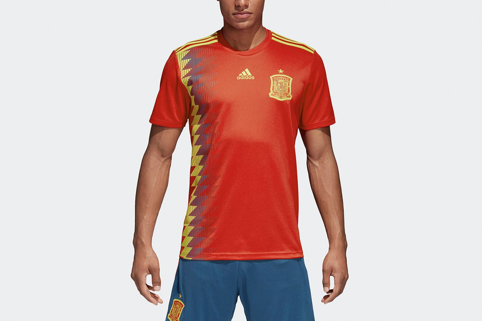 Spain Home Jersey Red CX5355 21 model 2018 FIFA World Cup Adidas