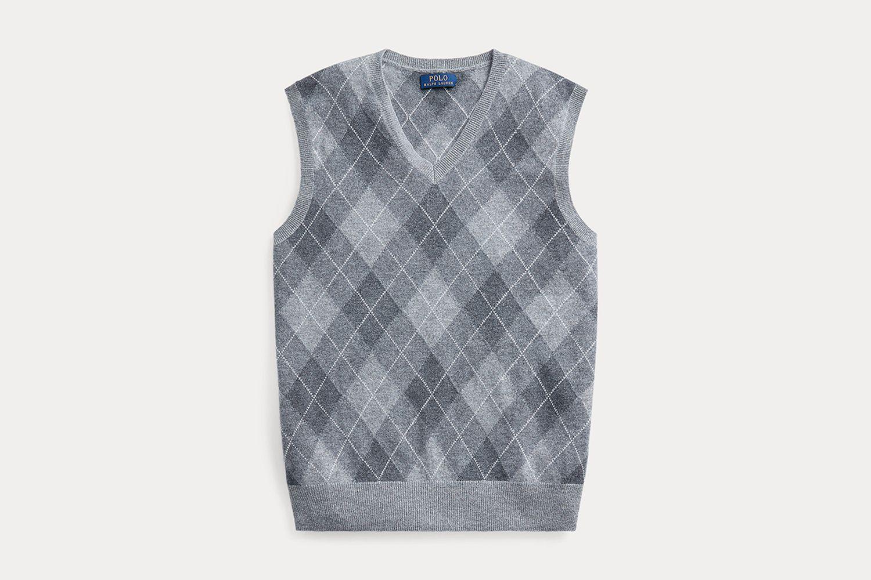 Argyle Cashmere Sweater Vest