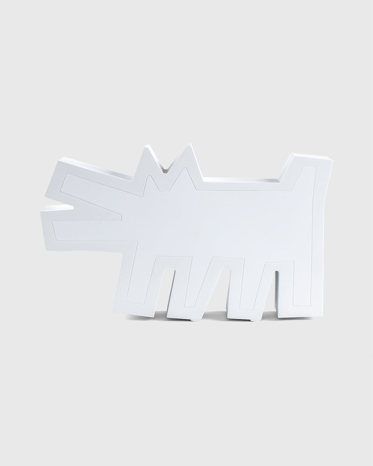 Medicom — Keith Haring Barking Dog Statue White - Image 1