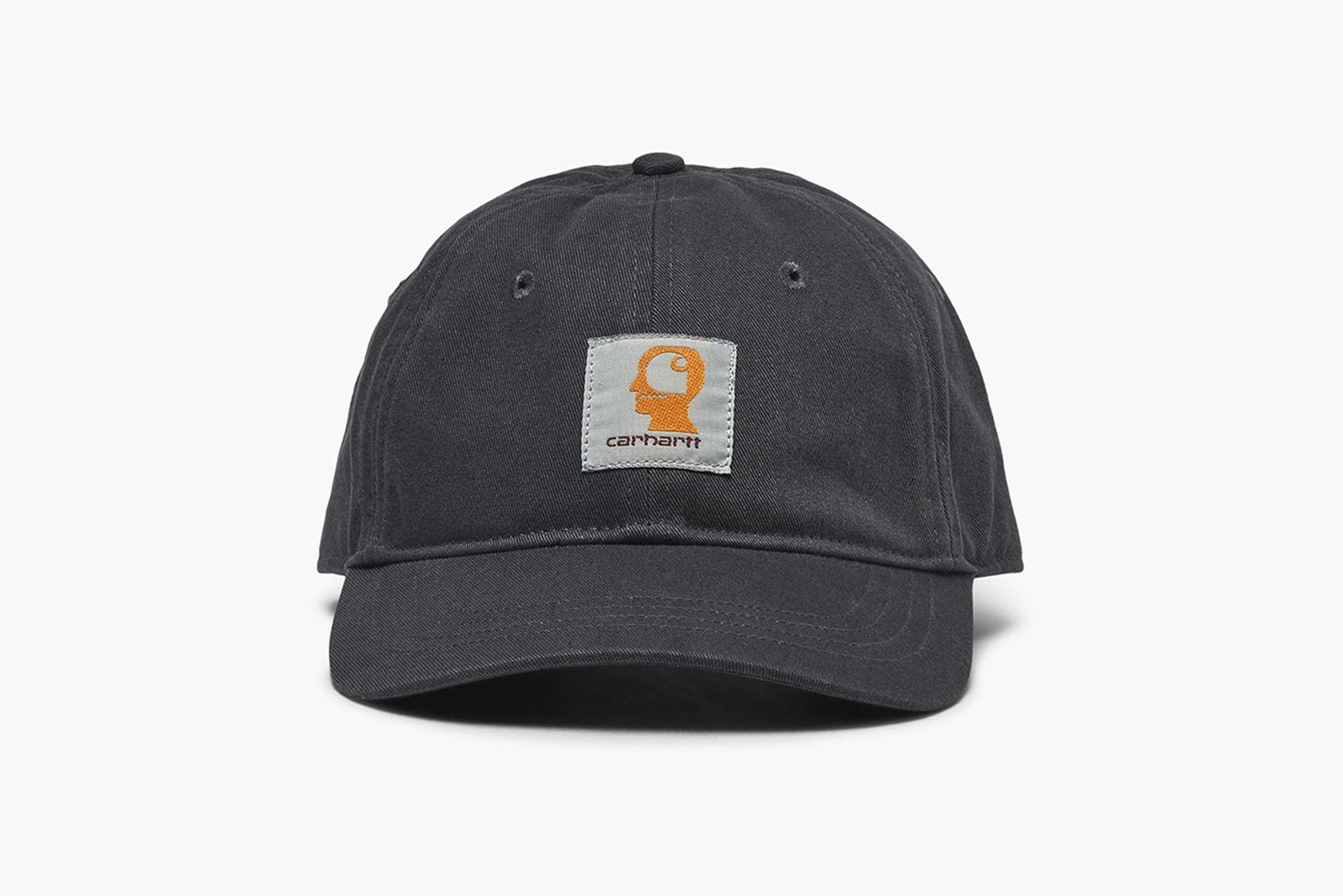 braindead x carhartt logo cap graphite brain dead carhartt wip