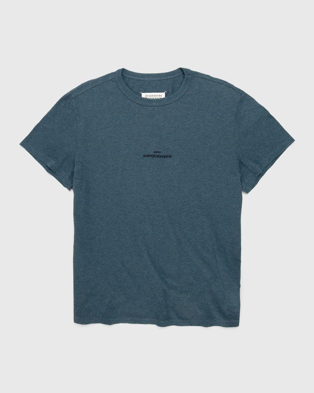 Maison Margiela – Logo T-Shirt Blue - Image 1