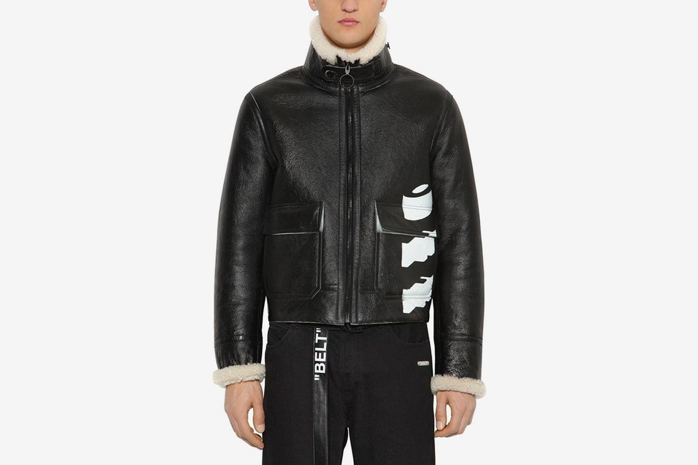 ''WHITE BLACK'' Shearling Jacket