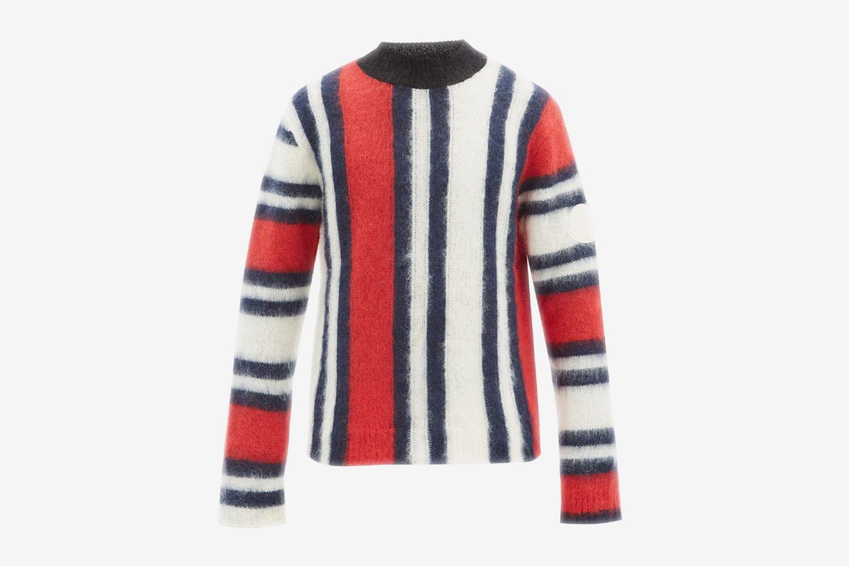 Intarsia Striped Sweater