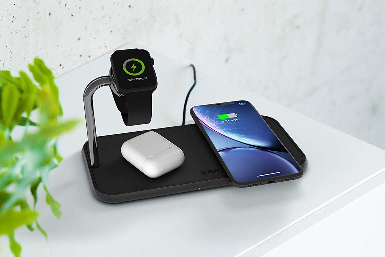Dual+Watch Aluminum Wireless Charger