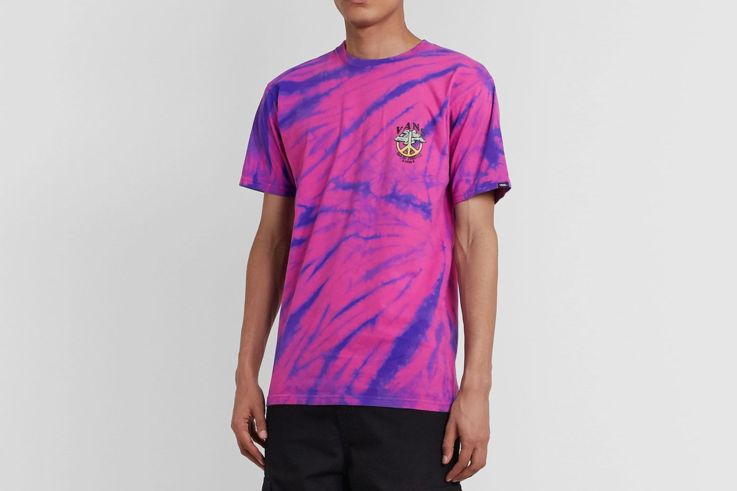 Logo-Print Tie-Dyed Cotton-Jersey T-Shirt