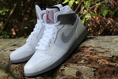 sports shoes f4c95 70e34 Nike will be releasing this white black-cement grey-fire red colorway of  the Air Jordan 1 Retro  89 on Saturday, August 24. Taking many of its  design cues ...