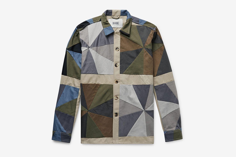 Patchwork Cotton-Twill Shirt
