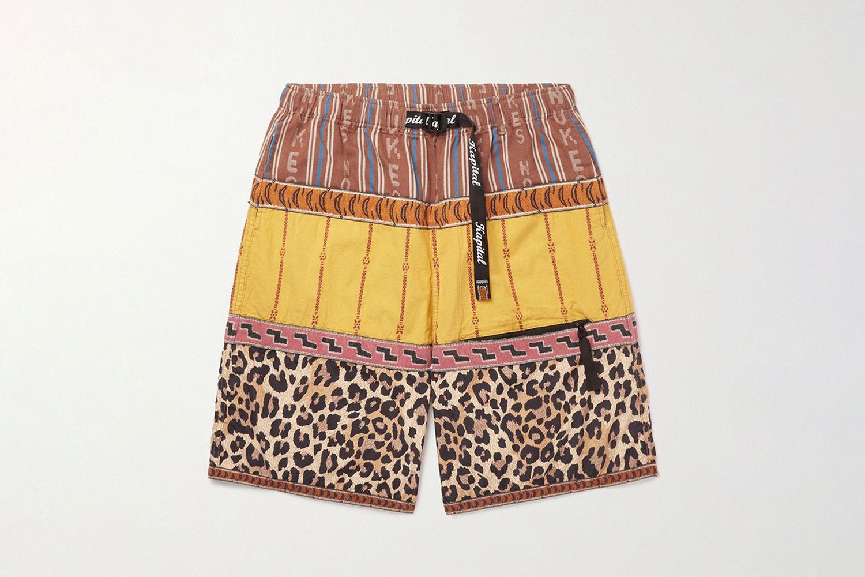 Wide-Leg Poplin Shorts