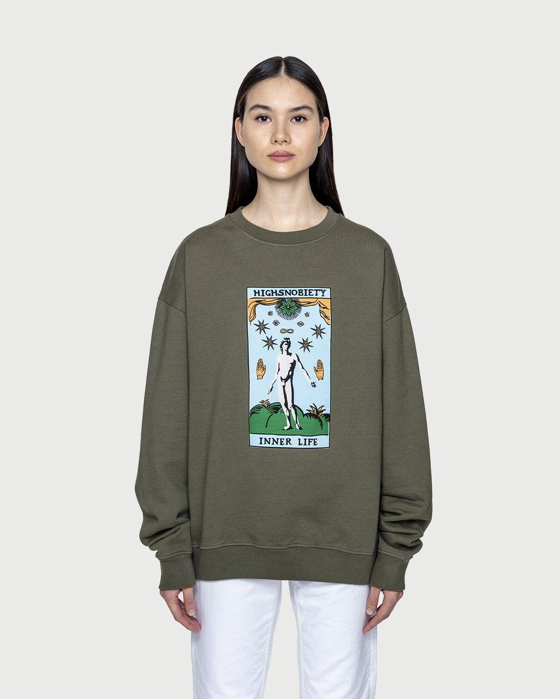 Highsnobiety — Inner Life Sweatshirt Light Military Green - Image 3