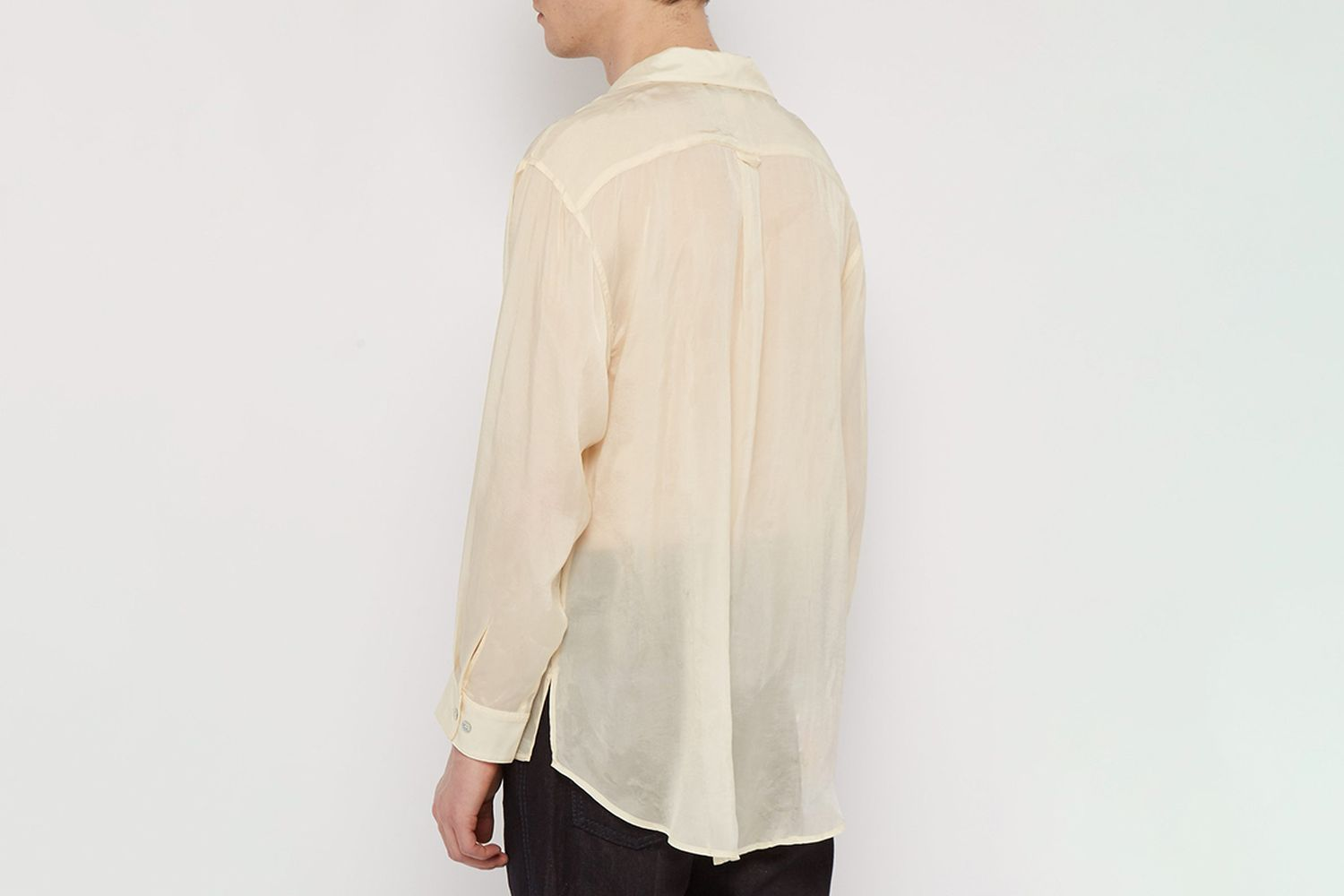 Semi-Sheer Satin Shirt
