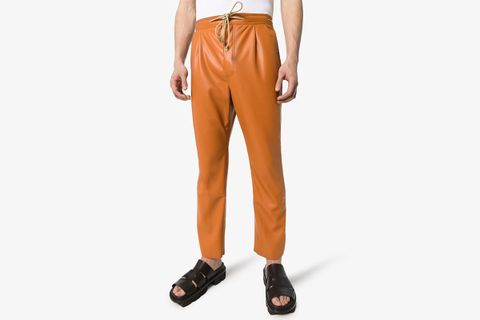Tuan Faux Leather Track Pants