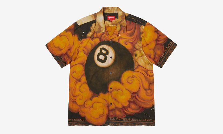 Supreme Martin Wong Eight Ball Flame Shirt