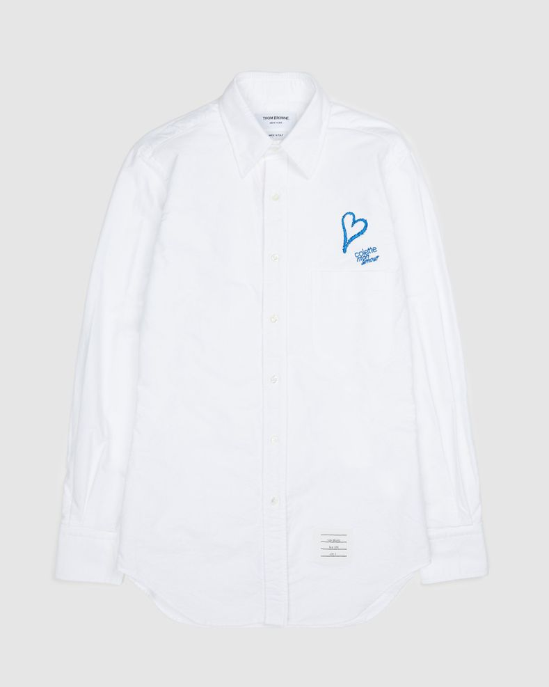 Colette Mon Amour x Thom Browne - White Heart Classic Shirt