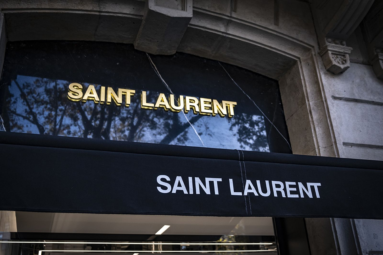 Saint Laurent store sign