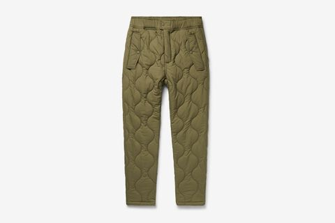 Quilted Padded Stretch-Ripstop Trousers