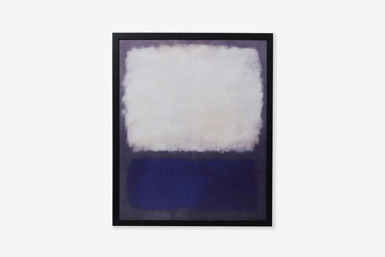 Blue And Grey Framed Print
