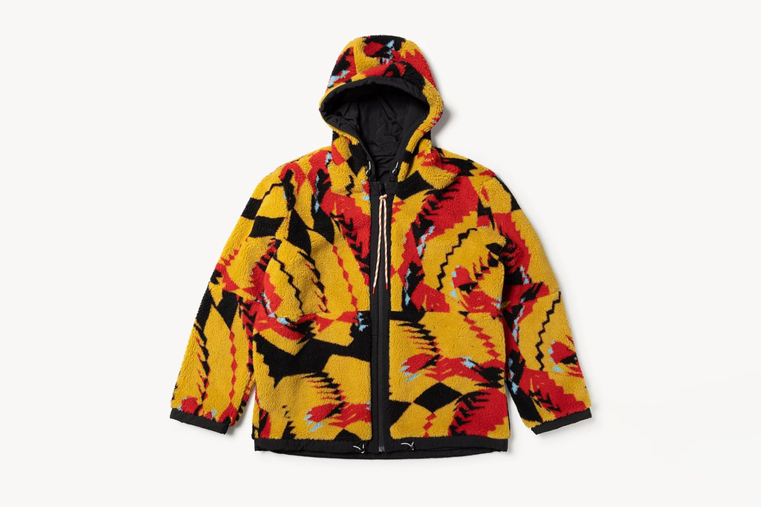 Web Special Reversible Abstract Fleece Parka