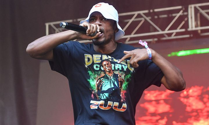 Denzel Curry performs during 2019 Lollapalooza at Grant Park