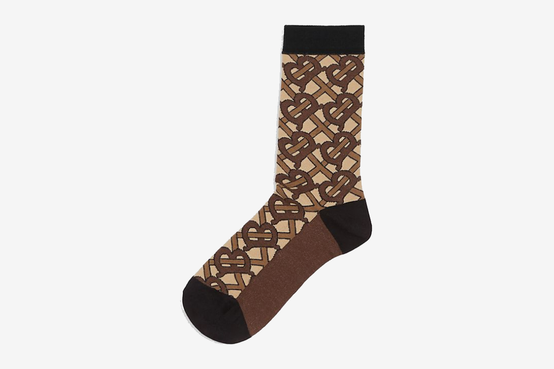 Monogram Pattern Socks