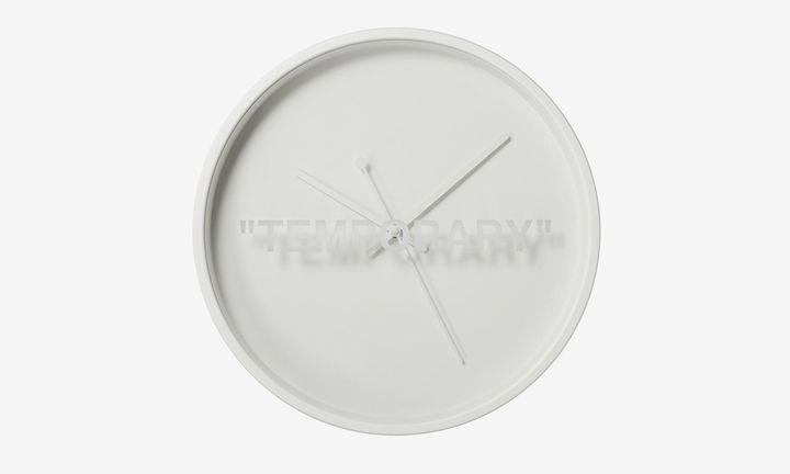 Virgil Abloh x IKEA MARKERAD Wall clock