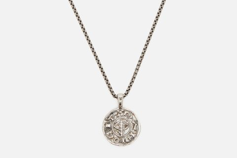 Viking Sterling-Silver Coin Pendant