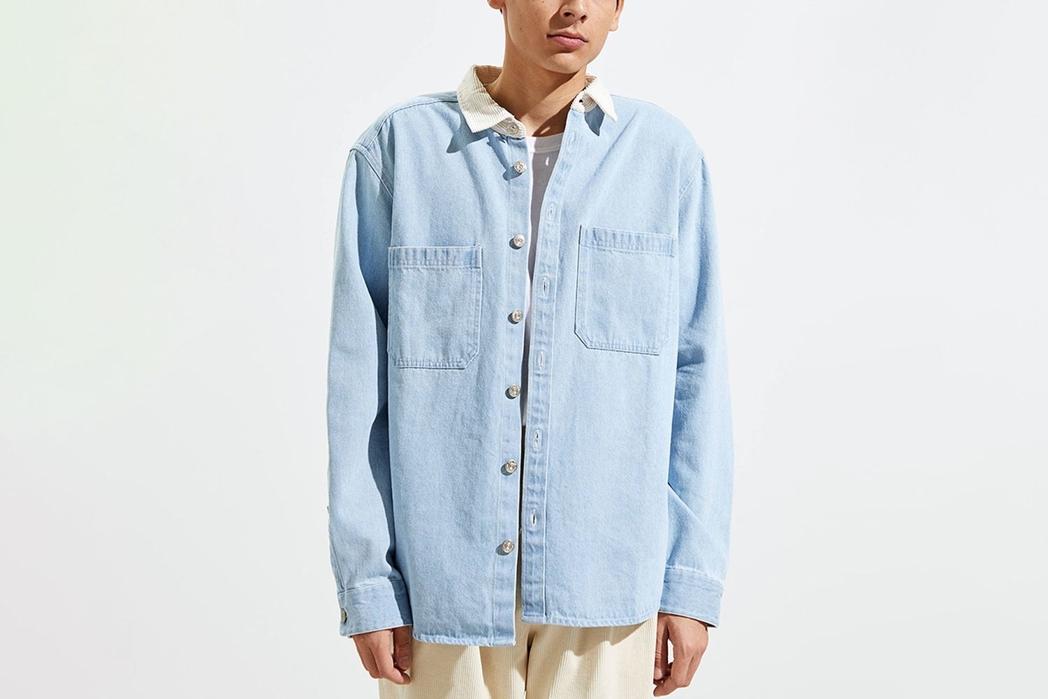 Washed Canvas Button-Down Work Shirt
