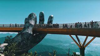 Vietnam S Golden Bridge Is Supported By Giant Stone Hands