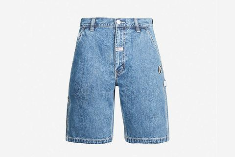 Logo-Embroidered Denim Shorts