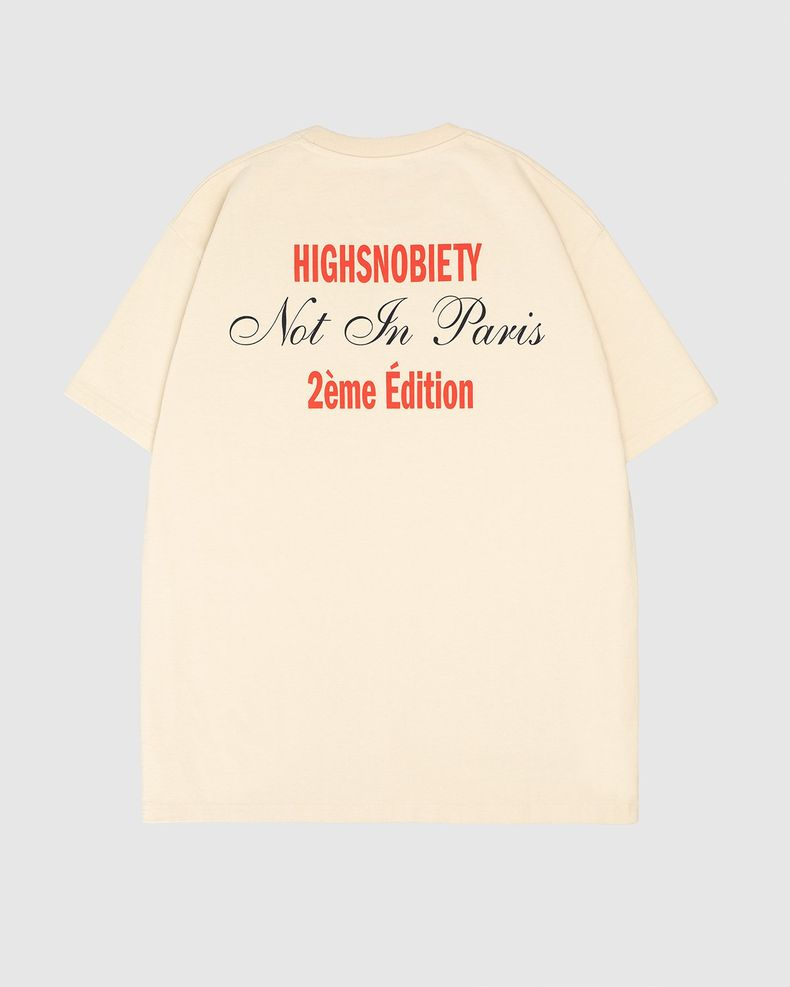 Highsnobiety — Not In Paris Eiffel Tower T-Shirt Eggshell