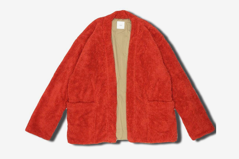 Fleece Jersey Lined Easy Kimono Cardigan