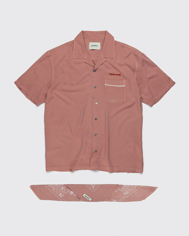 Highsnobiety – Bowling Shirt Mauve - Image 1