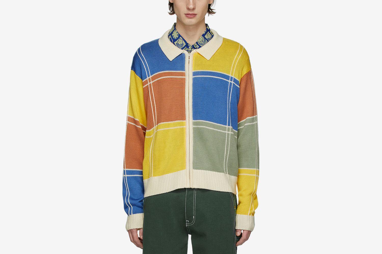 Colorblock Zip Sweater