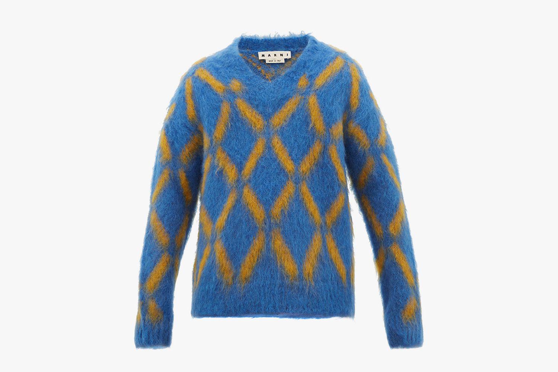 V-Neck Mohair-Blend Sweater