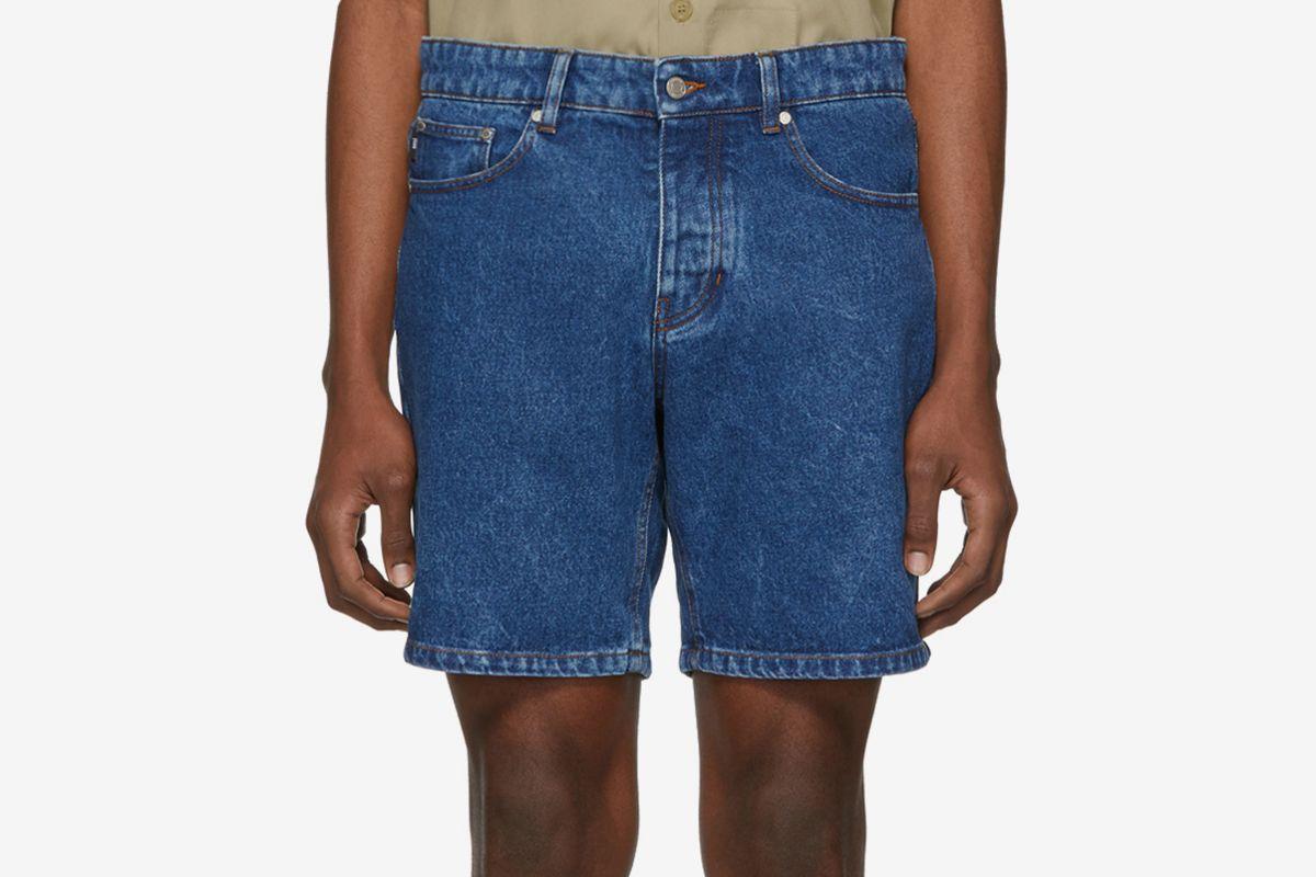 SSENSE Exclusive Denim Washed Shorts