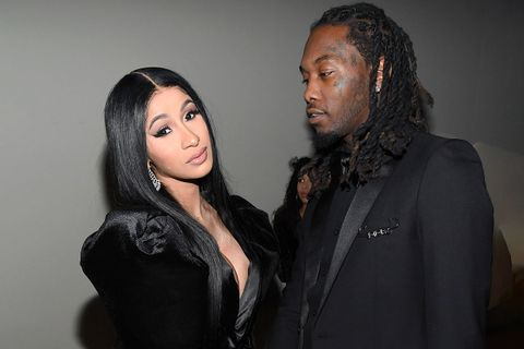 cardi b and offset at Diddy's 50th