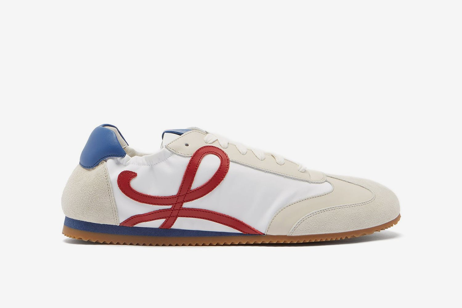 Ballet Runner Nylon And Leather Trainers