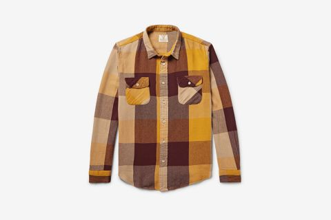 Shorthorn Checked Cotton-Flannel Shirt