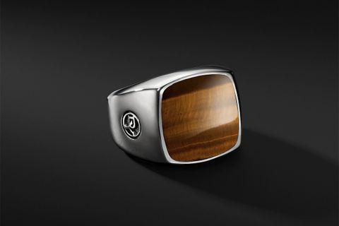Exotic Stone Signet Ring w/ Tiger's Eye