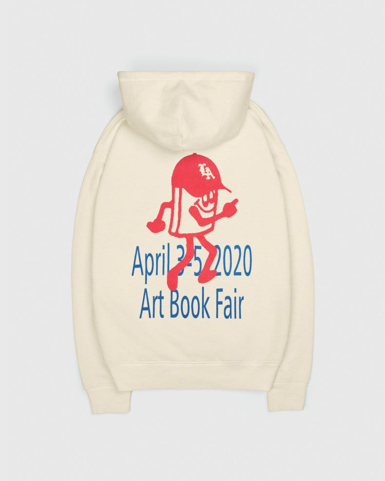 Highsnobiety — This Never Happened Art Book Fair Hoodie Eggshell