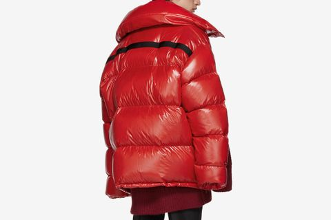 Calvin Klein 205W39NYC Red Down Oversized Jacket