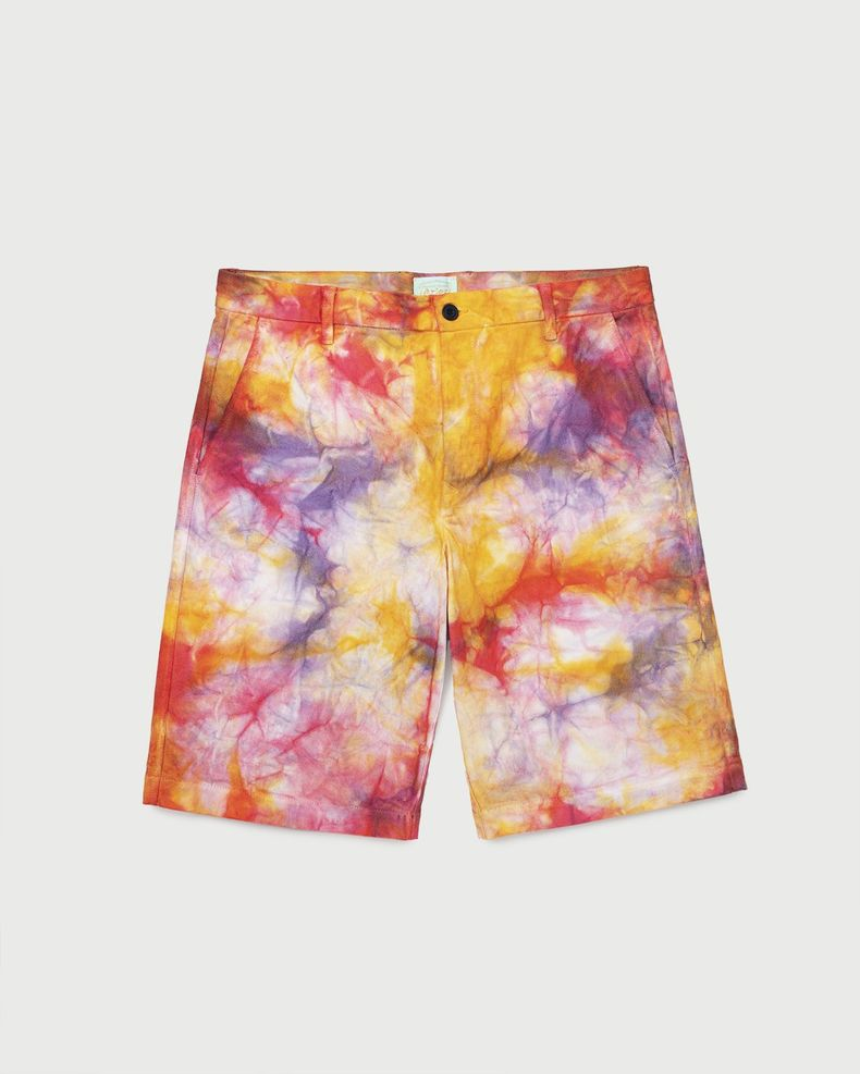 Aries — Tie Dye Chino Shorts Multicolor