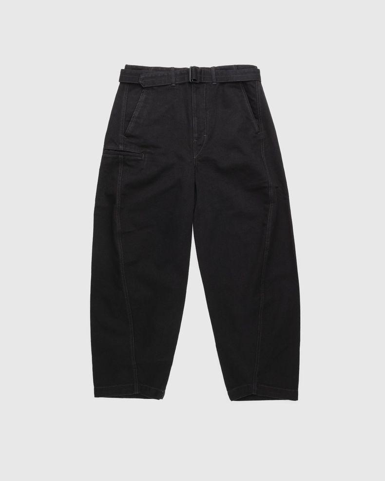 Lemaire – Rinsed Denim Twisted Pants Black