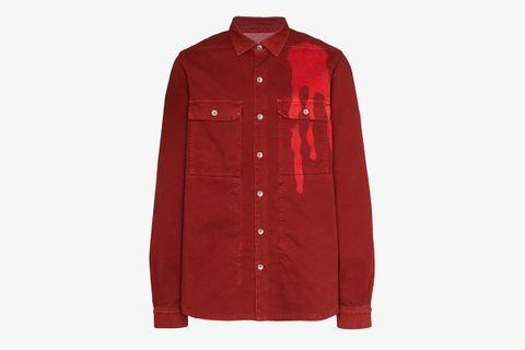 tie-dye spill shirt