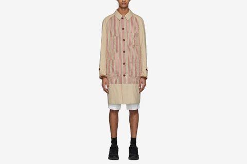 Linen Striped Coat
