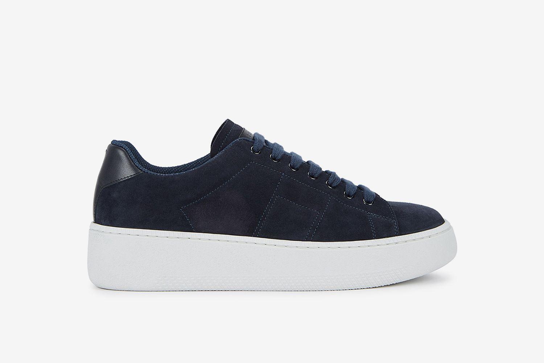 Wedge Suede Tennis Sneakers