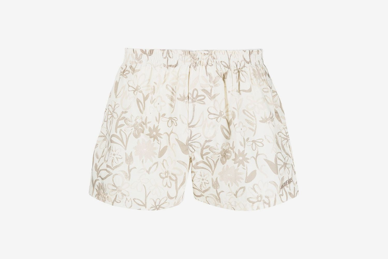 Painted Floral Print Shorts