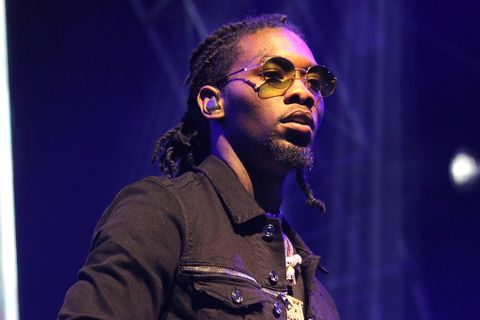 Offset performs on stage at the STAPLES Center